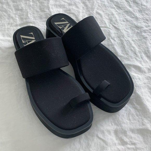 Zara Low Heel Platform Sandals